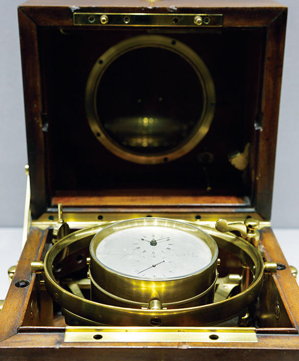 海軍御用達時計師であったブレゲ工房が得意とした高精度なマリンクロノメーター。