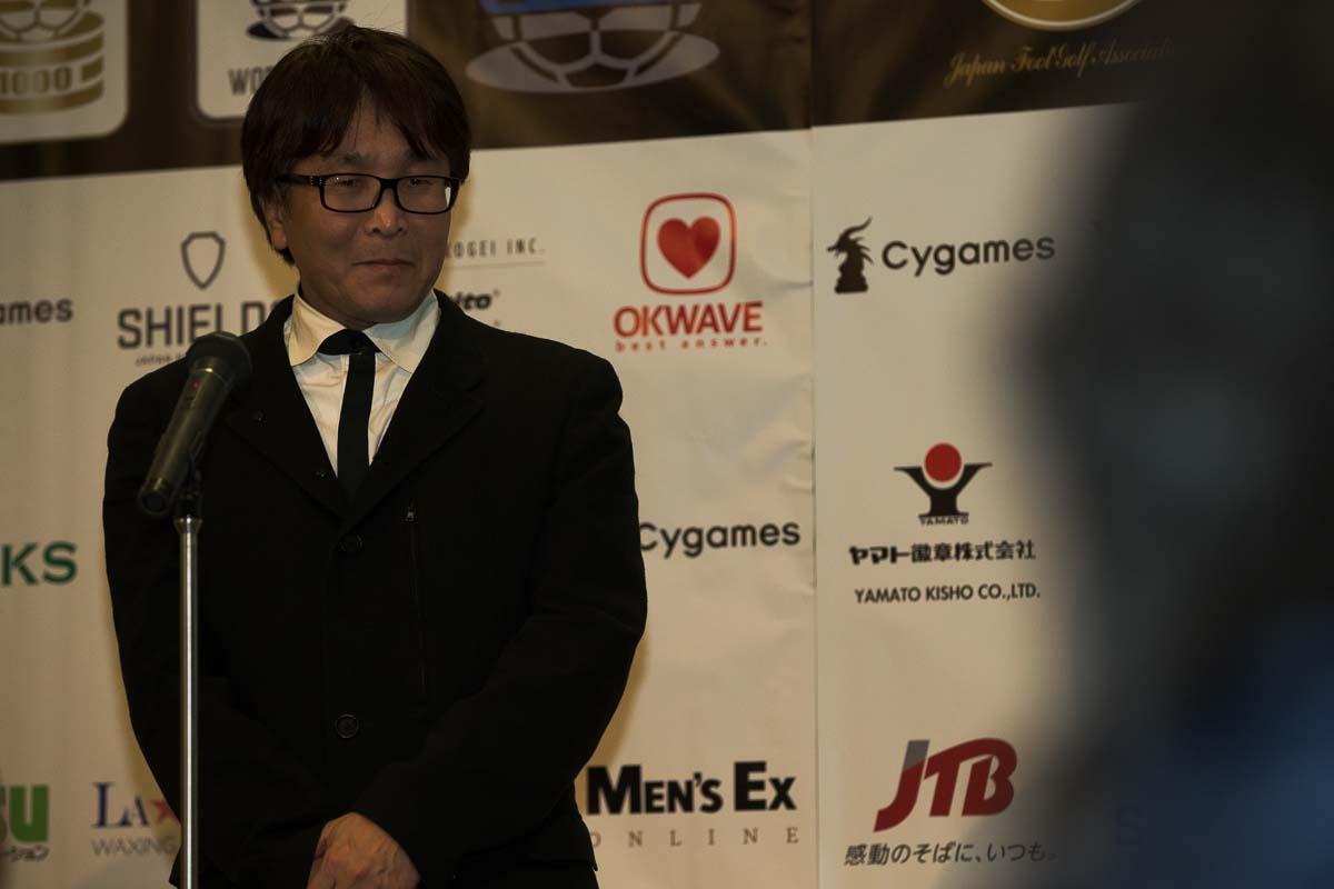 『キャプテン翼』の原作者、高橋陽一先生も、フットゴルフを熱く支持!「ボールはともだち」。
