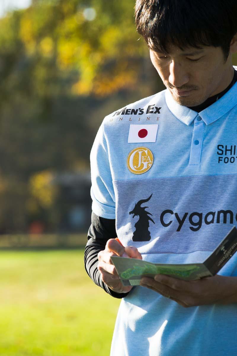 日本フットゴルフ協会オフィシャルサプライヤー「SHIELDS」がプロデュースする、日本代表ウェアの右肩一番上に、「MEN'S EX ONLINE」ロゴが!