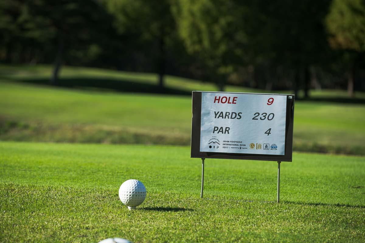 ヤード数は、ゴルフより少し距離が短めになっている。