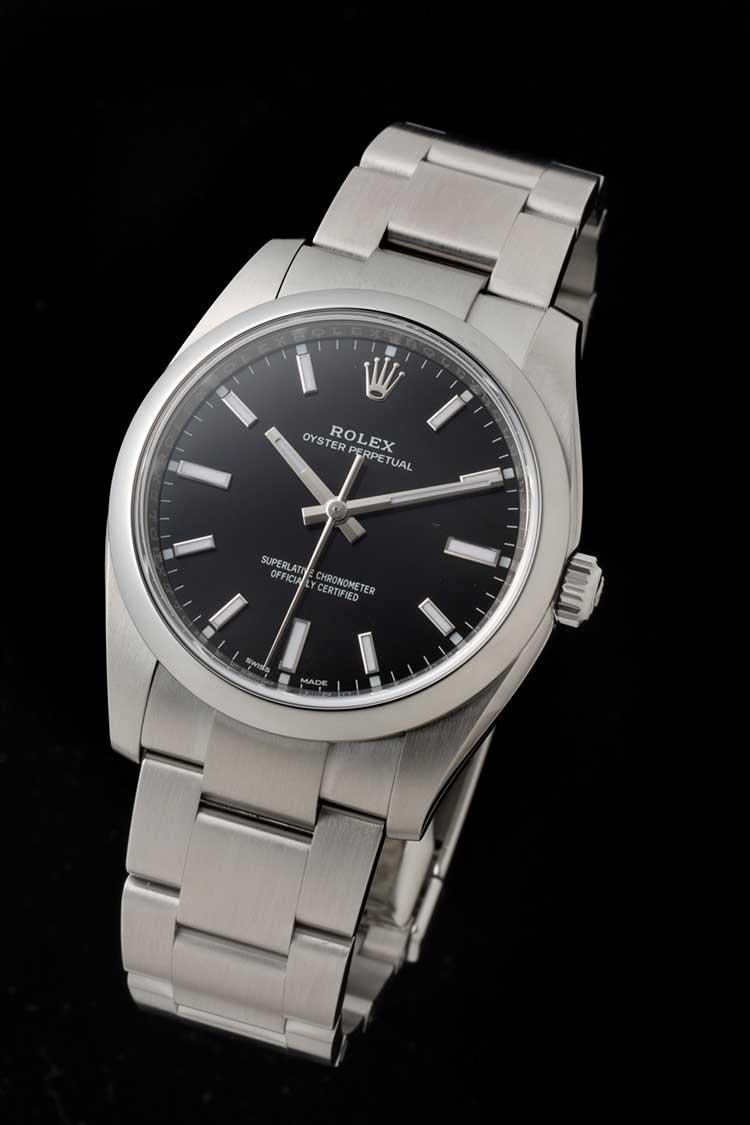 hot sale online 1655e f0061 ロレックスの最もベーシックなモデルに、ブラックの新ダイヤルが ...