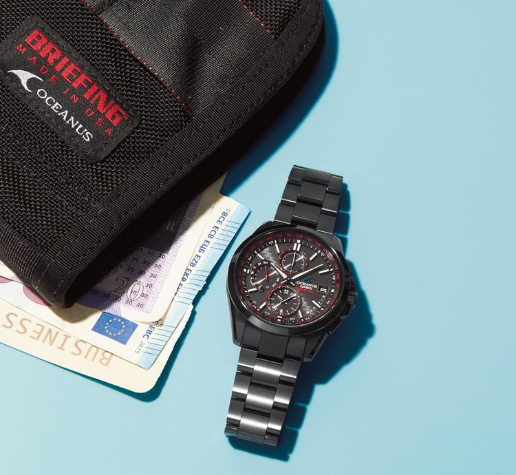 buy popular a6552 1313a 黒×赤が新鮮! カシオのオシアナス×ブリーフィングの初コラボ ...