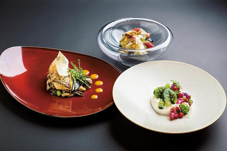 季節の食材を用いた料理で五感から癒される。