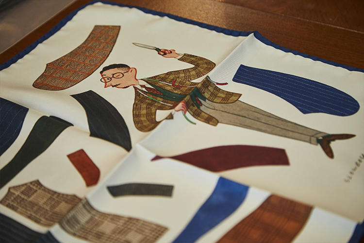 イラストはミスター スローボーイが、リングヂャケットのスタッフだったら……をテーマに描かれている。1万2000円(税抜き)。