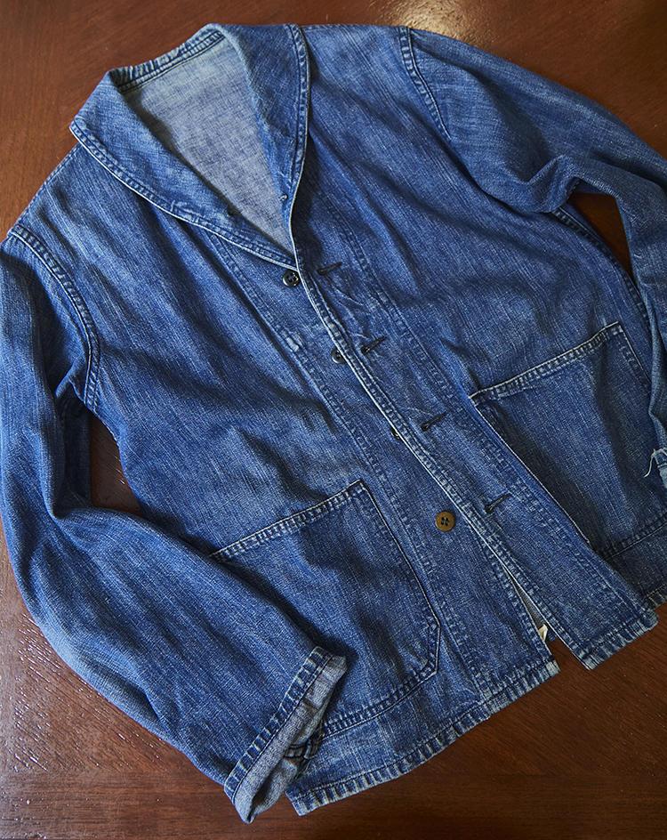 1990年代後半から2000年代初頭頃に神戸の古着屋で買ったデッキジャケット。1940年代のビンテージだ。