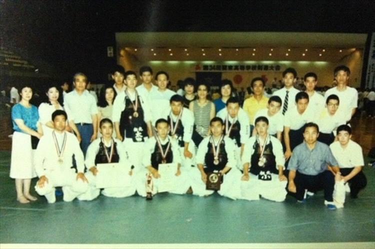 太田裕康さんの高校時代の剣道大会の様子