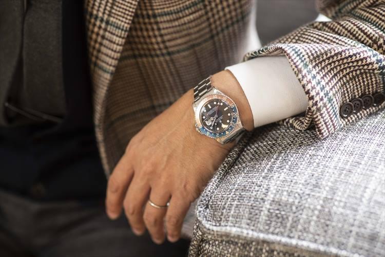 15本ほど所有する時計の一つが、ロレックスのGMTマスターⅡ。