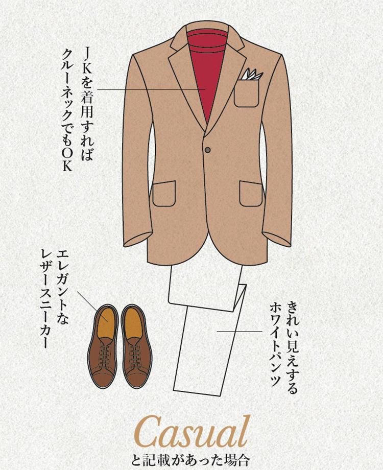 リラックス感のあるジャケットスタイル