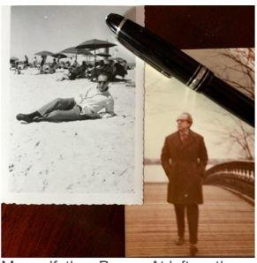 My godfather, Renzo. At left on the beach in Forte dei Marmi and at right in Central Park in the late 1970's. 私のゴッドファーザーのレンゾ。左:フォルテデイマルミの海辺で。t右:'70年代のセントラレルパークで散歩している。
