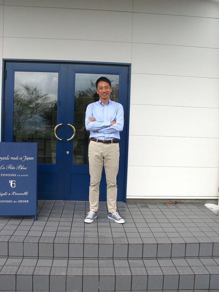 HITOYOSHI代表取締役で工場長の竹長一幸さん。