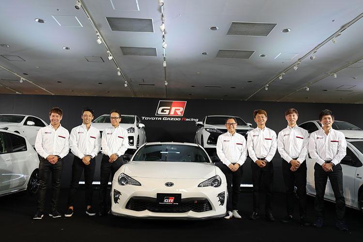 「GR」ドライバーである小林可夢偉選手や中嶋一貴選手なども登壇。