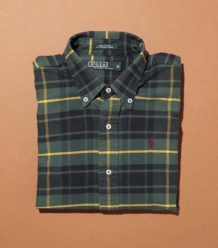 「ポロ ラルフ ローレン」のチェックシャツ。'80年代にアイクベーハーが作っていた頃のアメリカ製。クラシックな色柄も秀逸。
