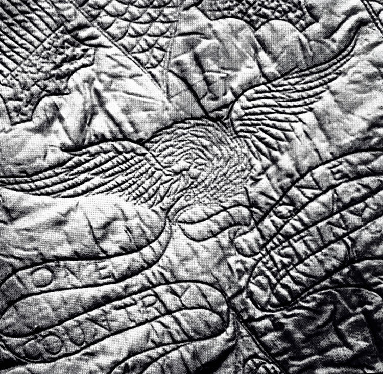 The lining of Lincoln's coat.