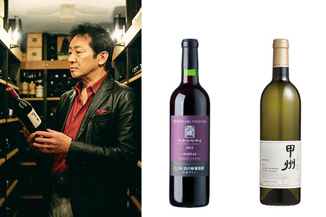 <b>辰巳さんが推す日本の固有品種</b><hr><b>甲州&マスカットベーリーAで日本ワインの実力に触れる</b></br>イチゴジャムやキャンディのような甘さを持つマスカットベーリーA。辰巳さんのイチ押しは、「ダイヤモンド酒造」の雨宮吉男さんが造るそれ。「まさにマスカットベーリーAの牽引役。それから、このぶどうの誕生の地『岩の原葡萄園』の『善兵衛』(左)も滑らかで奥深い。甲州ならば『中央葡萄酒』の三澤彩奈さんが手がける『明野甲州』(右)は素晴らしい味わいで海外からも高く評価されています」。