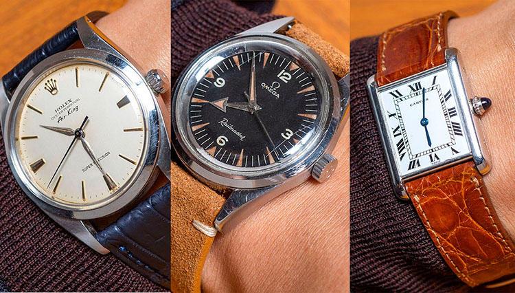 ロレックス、カルティエ、オメガ...「どこの時計?」と必ず聞かれるアンティークウォッチ10本を腕乗せ!