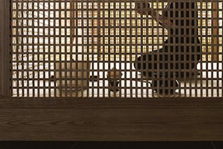 インテリアデザインの巨匠・内田 繁氏が手掛けた茶室も利用できる。