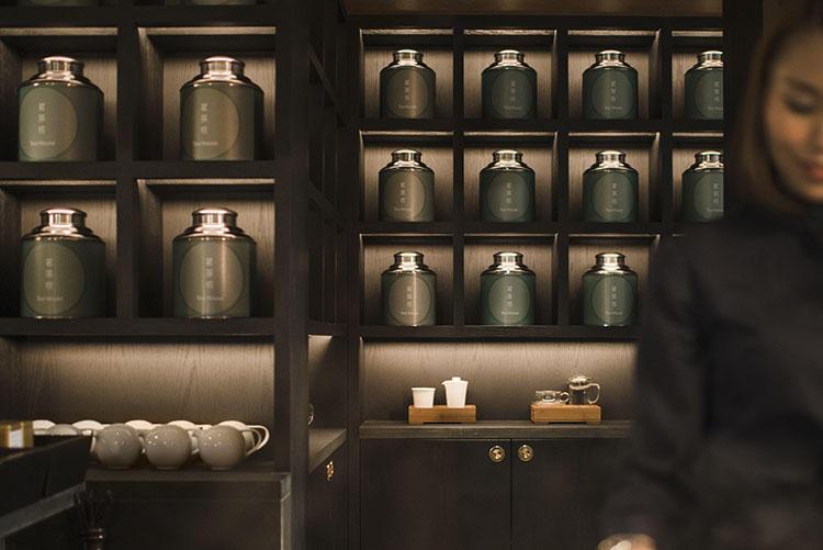 「ティー・ハウス」では茶葉の香りを試しながら、好みのお茶を選べる体験サービスが提供されている。