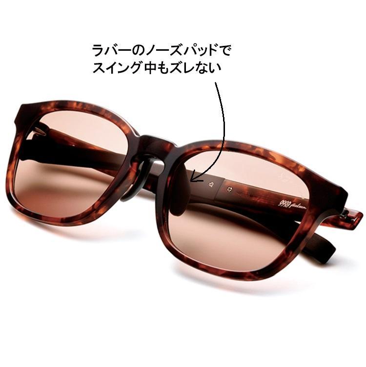 <b>999.9 feelsun</b><br><br>デザイン×高機能を揃えたスポーツラインのサングラス。ラバー製鼻パッドとシリコン製モダンのおかげで、異次元のフィット感を実現。写真のウェリントン型のほか、ボストン型も揃う。3万3000円/フォーナインズ・フィールサン(フォーナインズ)