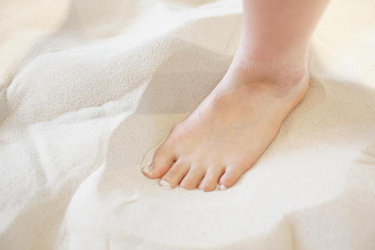 タジオに敷き詰められている砂