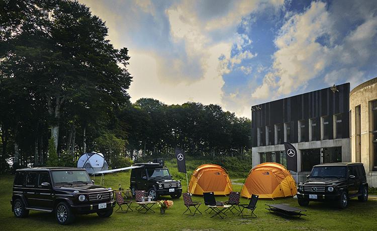 メルセデス・ベンツGクラスで訪れるアクティブで豪華なキャンプツアーを夏休み