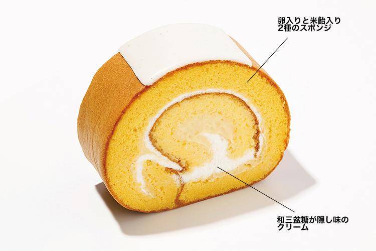 <font size=4><b>パティスリーSATSUKIのロールケーキ</b></font><br /><br /><b>2つの異なる食感が楽しく美味い</b><hr>中島眞介シェフ入魂のスーパーシリーズ。長崎県産太陽卵のスポンジと米飴入りのきめこまかなスポンジの2種で、和三盆を使用した軽い口当たりのブレンドクリームを巻き上げた「スーパークラシックツインロール」800円(ホテルニューオータニ パティスリーSATSUKI)