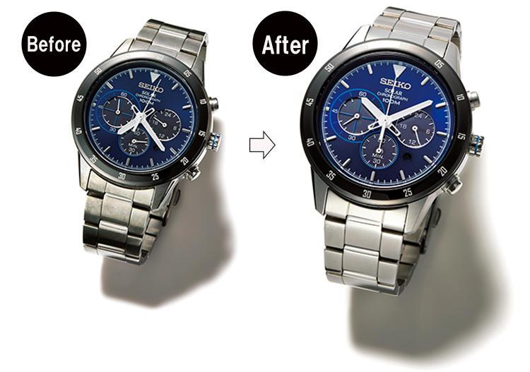 腕時計のメタルブレスに溜まった汚れは専用の洗浄液で一発除去!