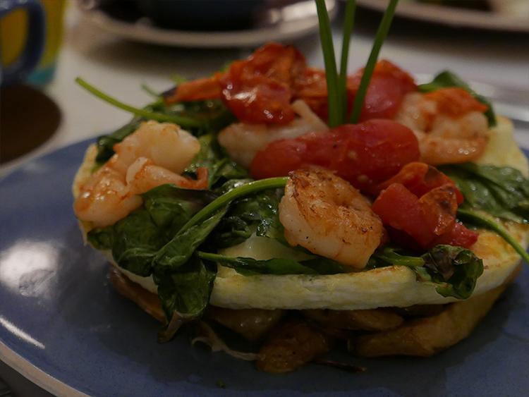 こちらもインスタ映え抜群の美味しい一皿。「Egg White Frittata」