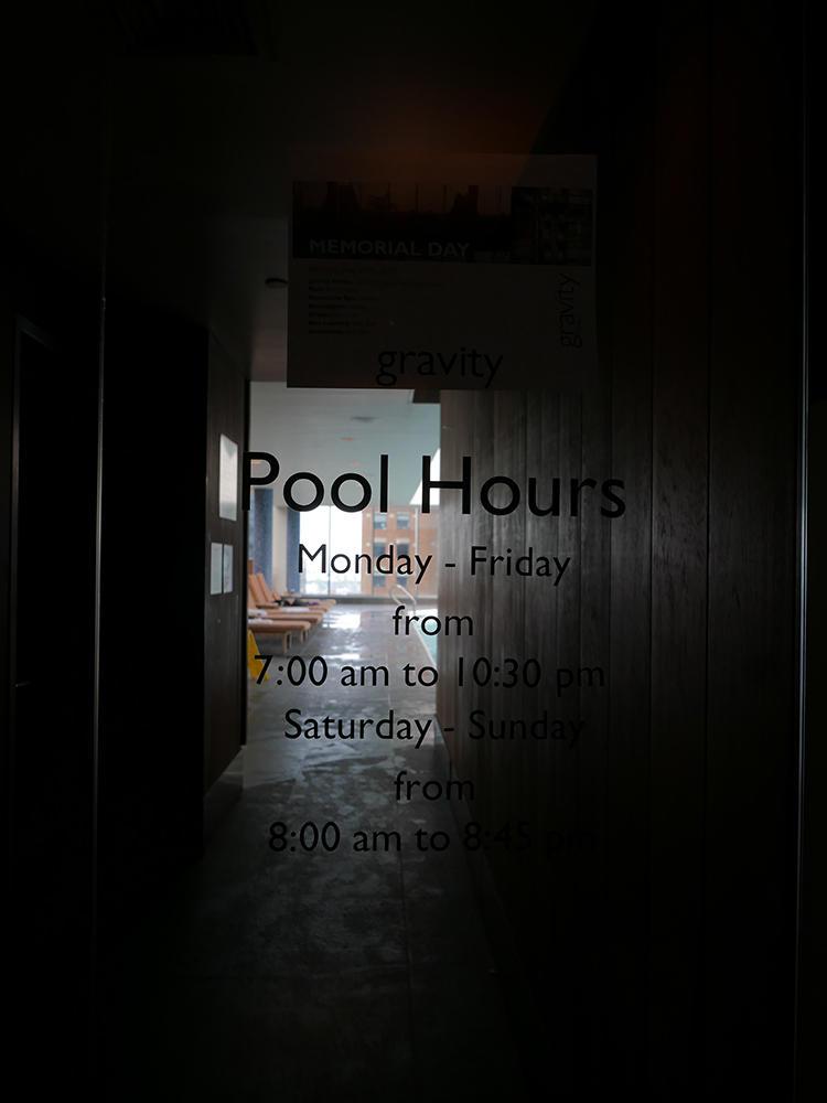 平日は朝7時〜夜22時と、かなり長時間なので出勤前後に軽く泳ぐにも便利!