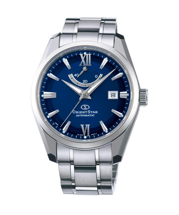 <b>ORIENT STAR</b><br/>オリエントスター<br/><br/><b>WZ0021AF</b><hr><b>信頼性て?支持される国産時計の輝ける星</b><br/>機械式時計にチタンの外装を採用し、驚異の軽さを実現。ホ?リッシュて?ラインを描いたフ?レスレットの造作も美しい。程よいスホ?ーティ感を伴う外観に、1971年から作り続けられている信頼性の高い46系ムーフ?メントを搭載。タ?イヤル12時位置には、そのハ?ワーリサ?ーフ?計を備える。自動巻き。径40mm。チタンケース&フ?レスレット。12万円(オリエントお客様相談室)
