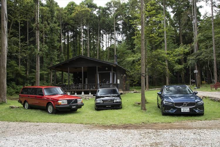 1970年代に発売された240シリーズ、1990年代の850シリーズ、そして現代のV60