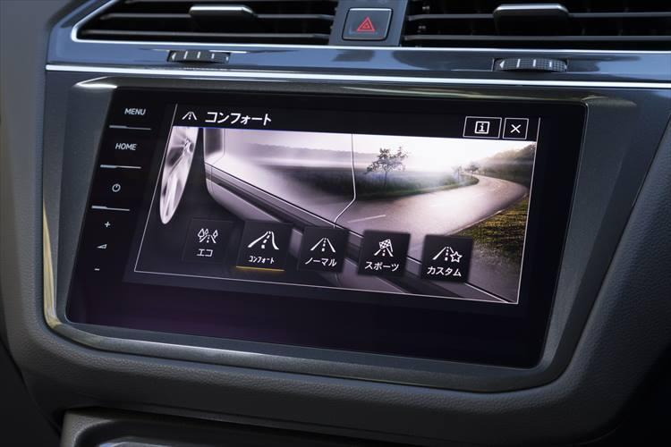オフロード機能が選択可能な「4MOTIONアクティブコントロール」は、オンロードの乗り味も選択可能。街乗り、ロングドライブと使用用途とに合わせて好みのサスペンション設定が味わえる。