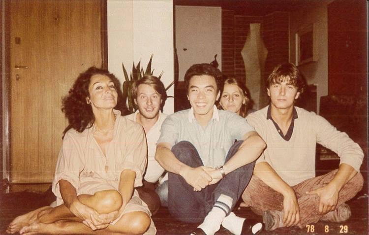 1978年、イタリアのビエラで撮影。イタリア人の友人宅にて。