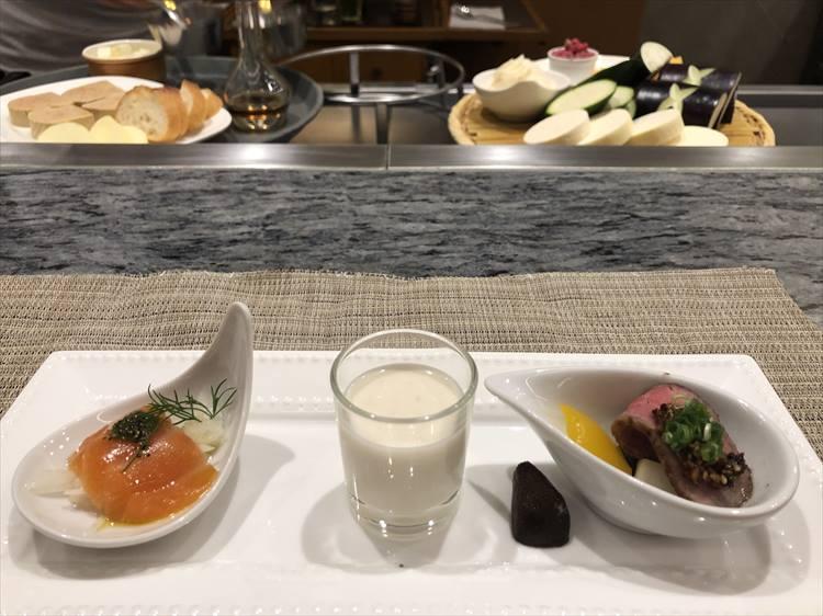 前菜のオードブル。宮崎は野菜もおいしいんですよ。