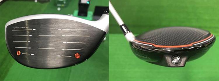 左/「スピードインジェクション」右/ソール後方にウェイトを配置してヘッドを深重心化。慣性モーメントを高めることでヘッドをブレづらく設計している