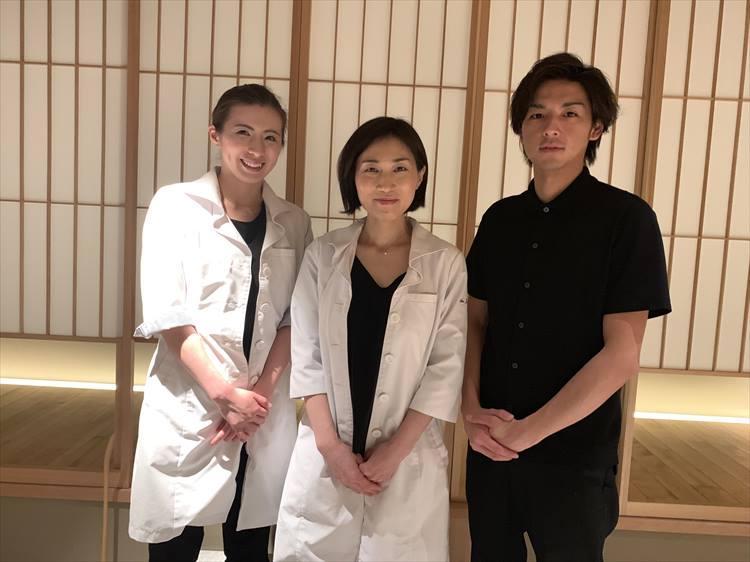 担当してくださったCOUKISHIの皆さん。左から堀田有美さん、清賀邦子さん、元良俊介さん