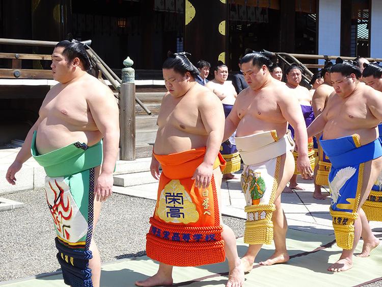 左から:前頭・遠藤、前頭・大栄翔、前頭・妙義龍、前頭・錦木