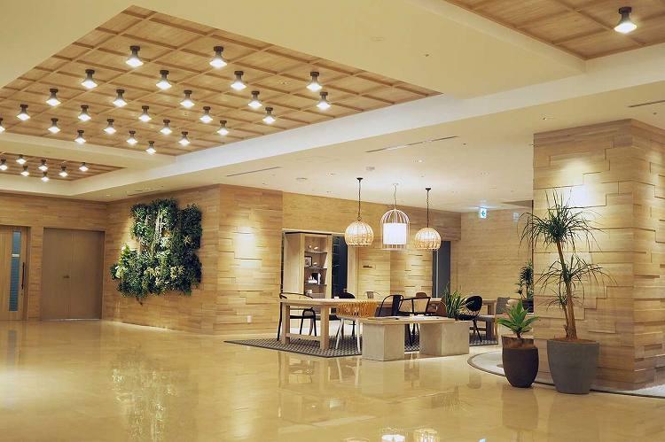 ホテルセントラーザ博多のロビー