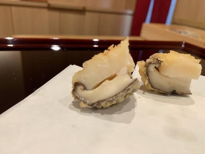 糸島の朝どれ原木椎茸とホタテ。むっちりとした食感がたまらない