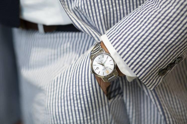 時計はブルックス ブラザーズのものを毎日愛用。自動巻きの本格派でデザインもお気に入りだそう。