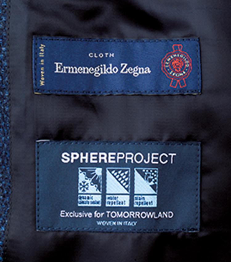 エルメネジルド ゼニアと共同開発したエクスクルーシブファブリックは、ウール×カシミヤの天然素材ながら、撥水性、防汚性、温度調整機能を実現。