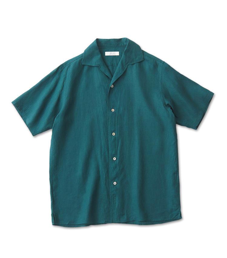 <span style=font-size:1.1em;><strong>ANGLAIS / アングレー</strong></span><br /><strong>美発色のリネンが夏のアクセントカラーに</strong><br />ノータイでもサマになるシャツ作りに定評のあるジャパンブランド。上品なグリーンのリネン地に白蝶貝ボタンのコントラストが涼やかだ。袖をややゆったりめに設定し、リラックス感を高めている。ネイビージャケットを合わせて差し色にしても洒脱だ。1万円台と気軽に手に入る価格も魅力的。1万8000円(アングレー丸の内店)