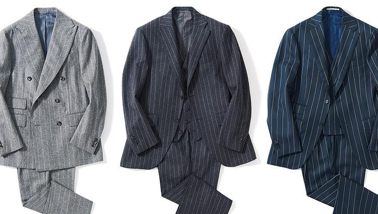 c751e8f037 人気ブランドの「ワイドストライプスーツ」8着を全部見せ【BEAMS中村