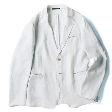 リネン混のシャツ地のような軽さのジャケット