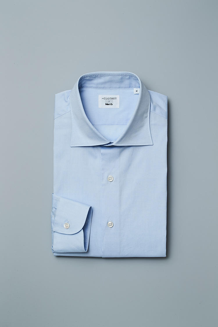 <strong>スーピマコットンオックス セミワイド</strong><br />通常のオックスフォードより織り目の細かいピンポイントオックスフォードは、肌当たりも滑らか。