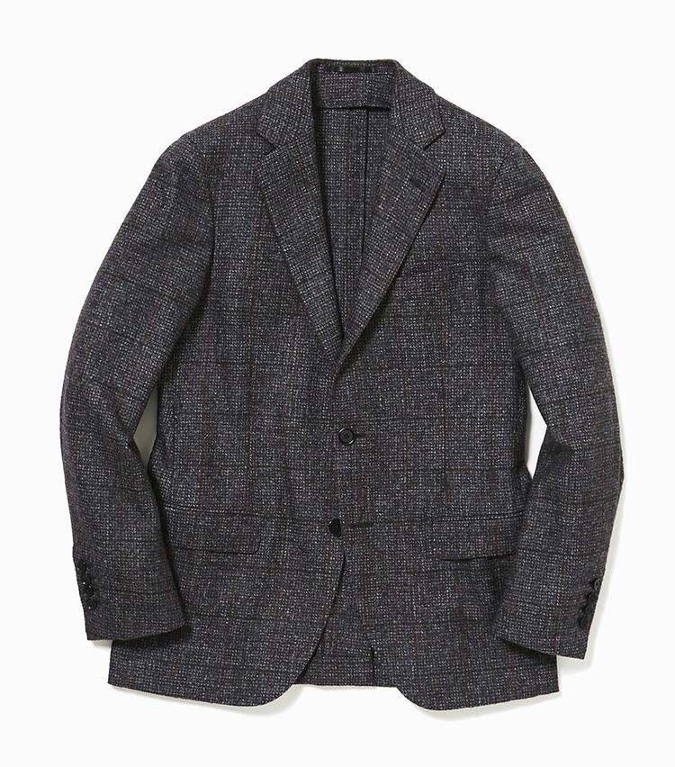 <b>4.トゥモローランド ピルグリムのブラウンチェックジャケット</b><br />旬な服地作りが得意なイタリアの老舗、フェルラ社のベビーアルパカを使用したジャケット。裏地や肩パッドをなくした作りはカーディガンのように軽快。7万9000円(トゥモローランド)