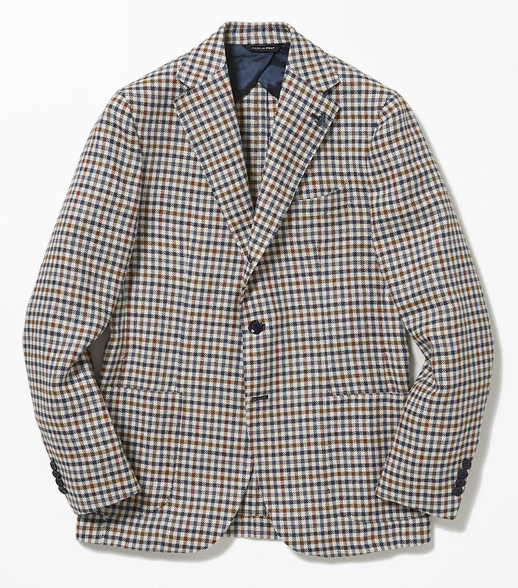 <b>4.パルテノペのガンクラブチェックジャケット</b><br />多色使いが今季的な英国調のガンクラブチェックジャケット。ウール、リネン、シルクによる軽快な混紡素材もコーディネートに春らしい味付けをしてくれる。8万3000円(バーニーズ ニューヨーク カスタマーセンター)