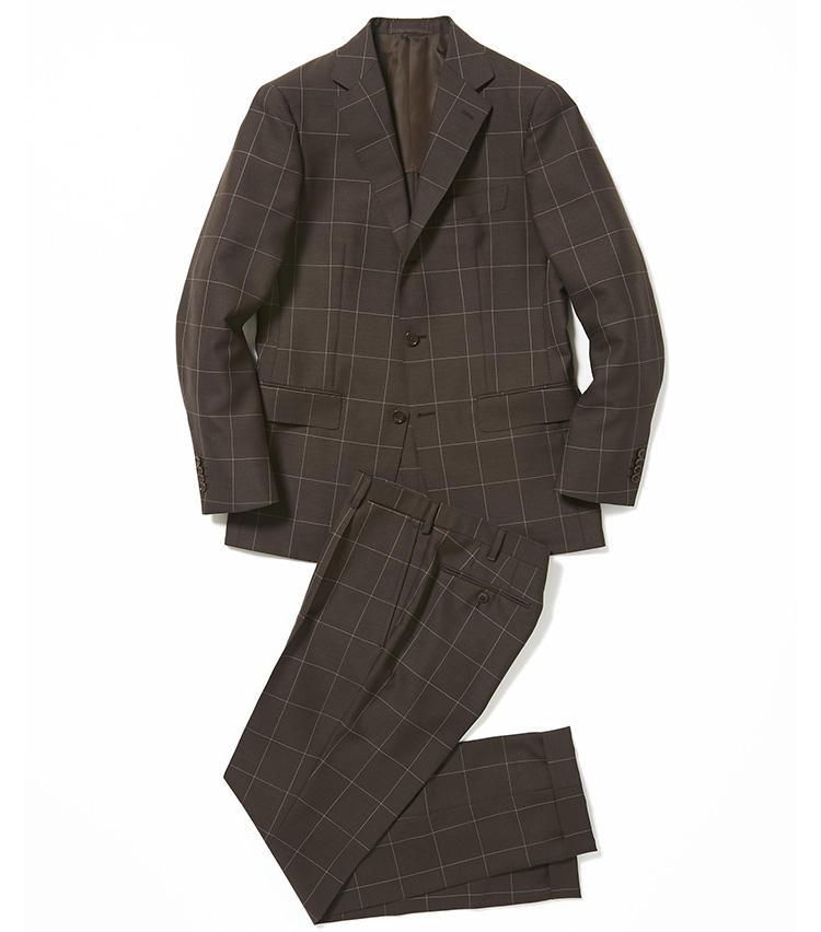 <b>3.ユナイテッドアローズの茶のチェックスーツ</b><br />意外にシャツやネクタイの色を選ばないブラウンスーツ。コントラストのはっきりしたウインドウペーン柄だが、モヘア混のクリアな素材感により、都会的な印象に仕上げられている。7万8000円(ユナイテッドアローズ 六本木ヒルズ店)