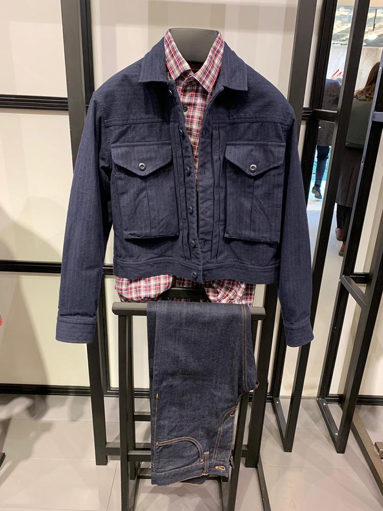 <b>バグッタ</b></br>チェックシャツの上に変形のビッグ2ポケシャツアウター。