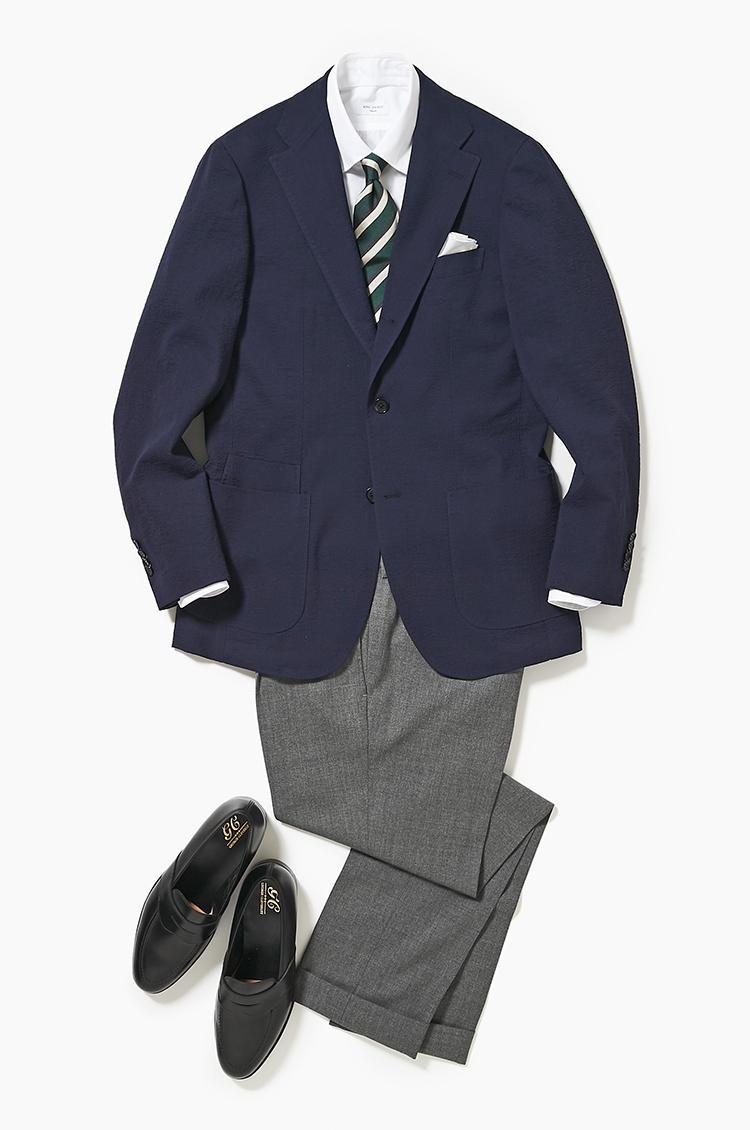 横並びにならない紺ジャケスタイル【スーツの着回し1週間チャレンジ!/リングヂャケット編#4】