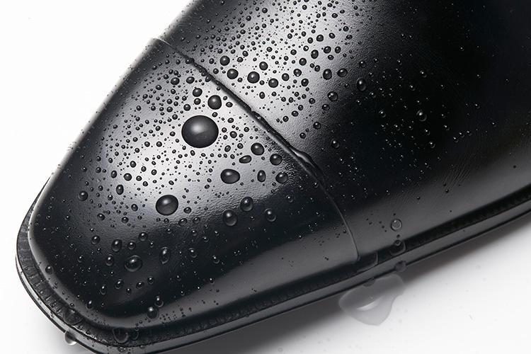 ファビのドレス靴、撥水の様子はこんな感じ!